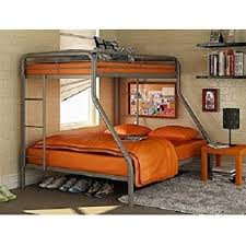 Amazoncom Sturdy Kids Sturdy Twin Over Full Metal Bunk Bed With - Steel bunk beds