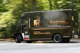 electric company truck brown goes green as ups looks into conversion to electricity in