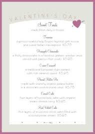 valentines event table tent menu valentine u0027s day menus