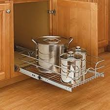 lynk chrome pull out cabinet drawers image of lynk professional wide roll out under sink 14 inch single