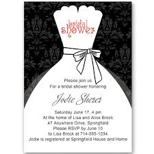 wedding shower invitations black and white inexpensive wedding dress bridal shower