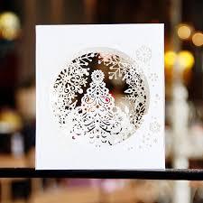 christmas cards 3d diy natal postcard elegant card greeting cards