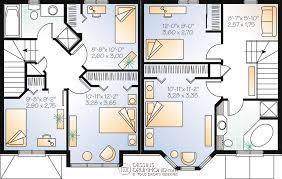 plan de maison a etage 5 chambres chêtre manoirs châteaux jumelés bi génération w3020