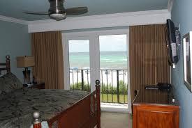 floor to ceiling curtains at beach condo