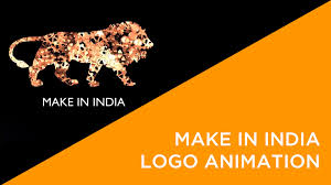 make in india logo animation lion youtube idolza