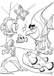 Finding Nemo Coloring Pages Nemo And Friends Coloringstar Nemo Color Pages