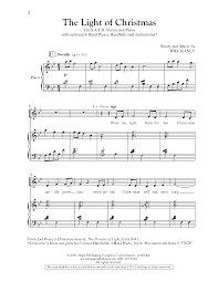 the light of christmas satb by joel raney j w pepper sheet music