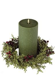 Candle Rings 4 5 Mini Leaf Burgundy Berry Candle Ring