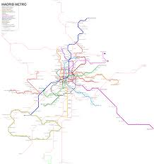 La Subway Map Madrid Subway Map For Download Metro In Madrid High Resolution