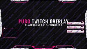pubg twitch twitch overlay template royale pink pubg own3d tv