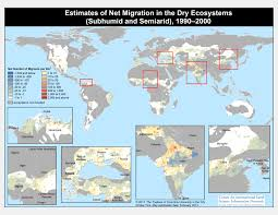 Columbia World Map by Migration In Risk Prone Areas