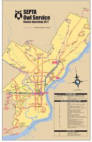 septa map map this is what philly would look like with 24 hour septa