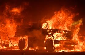 Wildfires California Current by Wind Whipped Wildfires Devour Buildings Spur Evacuations In