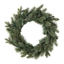smycka artificial wreath in outdoor spruce 45 cm ikea