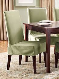 Kitchen  Dining Chair Covers Youll Love Wayfairca - Short dining room chair covers
