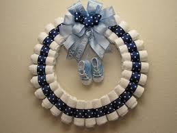 diaper wreath large baby boy diaper wreath by