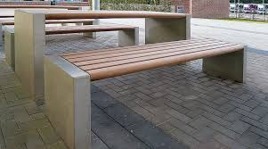 concrete and wood outdoor table contemporary picnic table wooden concrete rectangular gravis