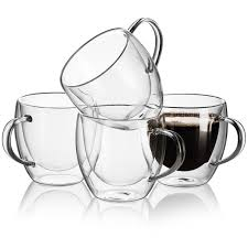 unique espresso cups amazon com set of 4 coffee double wall insulated glass 8 ounce