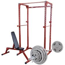Weight Bench With Bar - best fitness power rack and fid bench with 300lb olympic grip