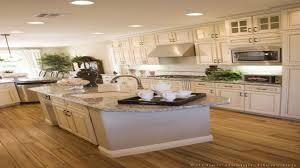 butcher block countertops with dark wood floors wood floors