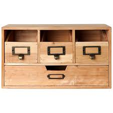 Storage Cabinets Amazon Com Rustic Brown Wood Desktop Office Organizer Drawers
