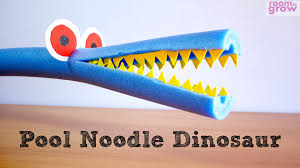 how to make a pool noodle dinosaur easy crafts for kids youtube
