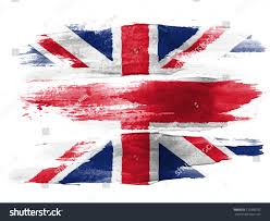 british flag painted on white paper stock photo 120390292