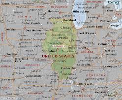 map usa illinois map of illinois state usa