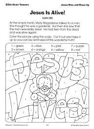 easter coloring pages numbers jesus easter coloring pages printable is alive christian color by