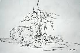 broken pot bamboo drawing by justin hiatt