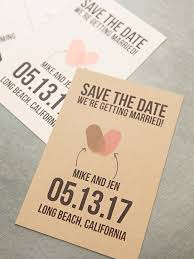 design your own save the date make your own thumbprint heart save the dates