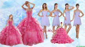 strapless beading coral red sweet 16 dress and beading short
