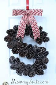 diy monogram pinecone wreath mommy suite