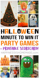 halloween minute to win it party games happiness is homemade
