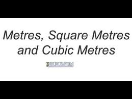 metre to square feet metre square metre and cubic metre youtube