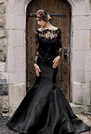 black wedding dresses with sleeves naf dresses