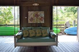 coastal porch swing bed blue giraffe 30a