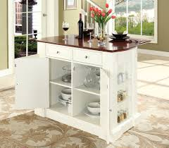 buy drop leaf breakfast bar top kitchen island in white finish