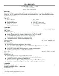 cosmetologist resume exles cosmetologist resume exles new cosmetology resume exles