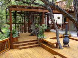 multi level deck with a pergola only problem i can see is that as