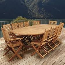 Round Teak Table And Chairs Teak Patio Furniture You U0027ll Love Wayfair