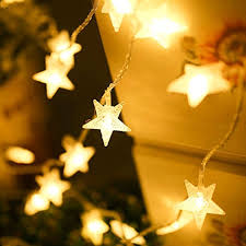 battery operated star lights shhe fairy lights battery powered stars string lights 5m 40 led