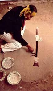 navajo sandpaintings also called dry paintings are used in