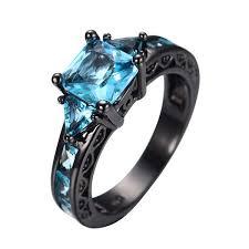 black gold wedding rings aquamarine black gold filled ring ess6 fashion