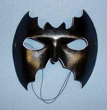 party items fancy dress velvet face bat mask in black