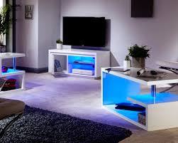 Coffee Tables With Led Lights Polar White High Gloss Furniture With Led Lights Coffee L