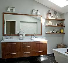 Reclaimed Wood Bathroom Reclaimed Wood Shelves A Trendy Addition To A Modern Bathroom