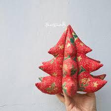 vánoční stromeček dekorační stromeček šitý z bavlněné látky s
