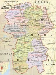 Tamil Nadu Map Coimbatore