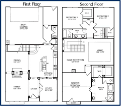 Two Family Floor Plans by Two Story House Plans Home Design Ideas